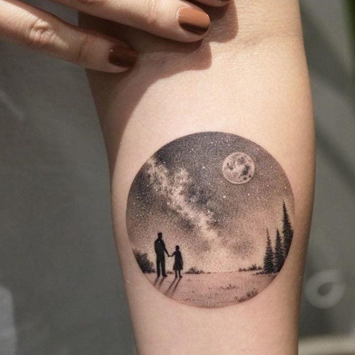 Eva tatuaje de paisajes 1
