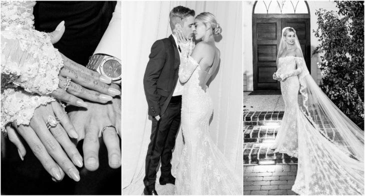 Hailey Baldwin y Justin Bieber en su boda