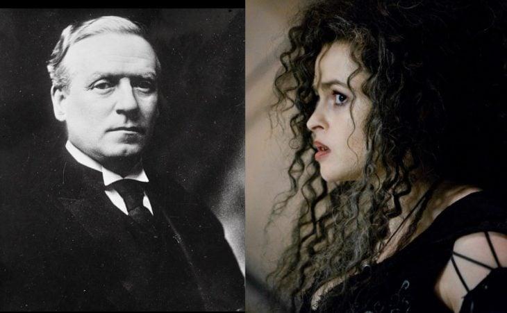 Herbert Henry Asquith y Helena Bonham Carter
