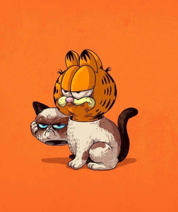 Ilustración de Alex Solis, proyecto Icons Unsmasked, Garfield