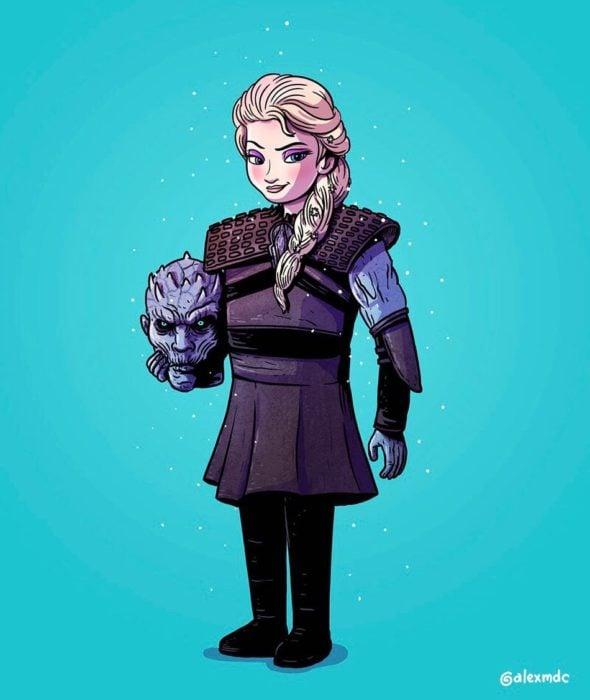 Ilustración de Alex Solis, proyecto Icons Unsmasked, Elsa