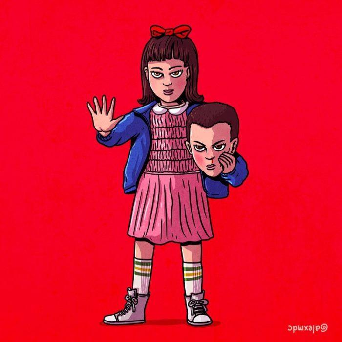 Ilustración de Alex Solis, proyecto Icons Unsmasked, Matilda