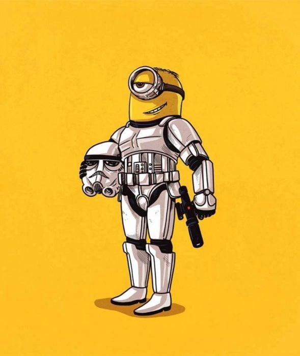 Ilustración de Alex Solis, proyecto Icons Unsmasked, Minion