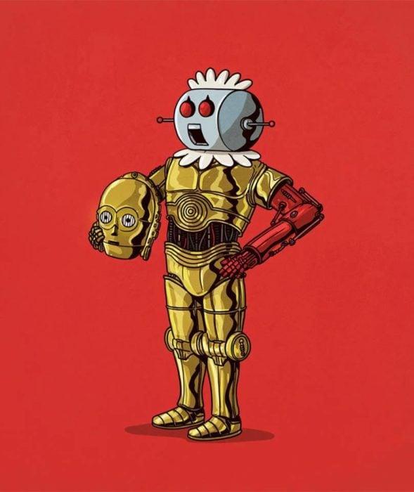 Ilustración de Alex Solis, proyecto Icons Unsmasked, Robotina
