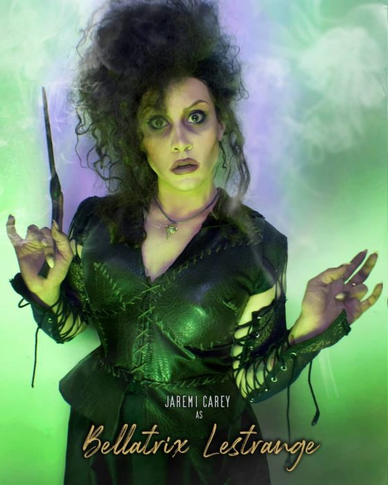 Jaremi Carey cosplay Harry Potter Bellatrix Lestrange