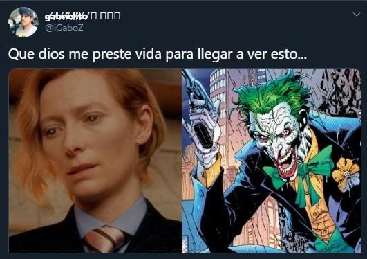 Tuit sobre Tilda Swilton para interpretar al nuevo Joker
