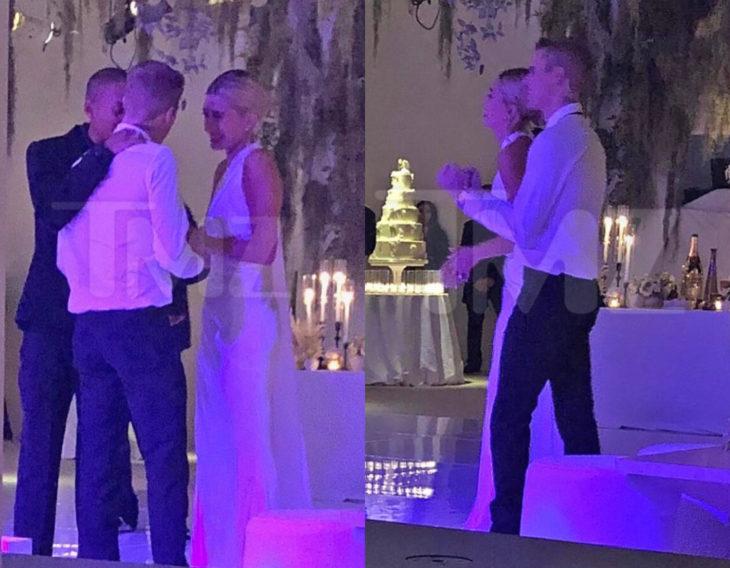 Justin Bieber y Hailey Baldwin se casan por la iglesia; pareja abrazada