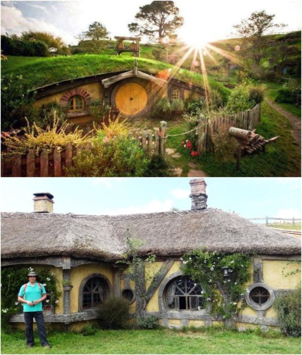La posada del Dragón verde como locación en la película El Hobbit