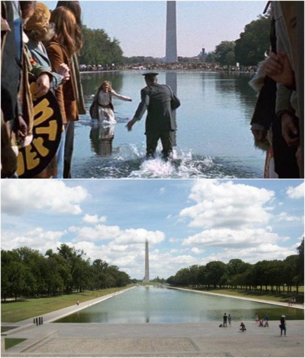 Piscina reflectante del monumento a Lincoln locación de la película Forest Gump