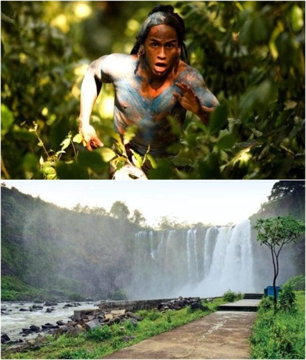 El salto de Eyipantla como locación en la película Apocalypto