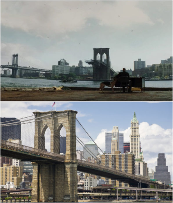 Puente de Brooklyn como locación en la película Soy Leyenda