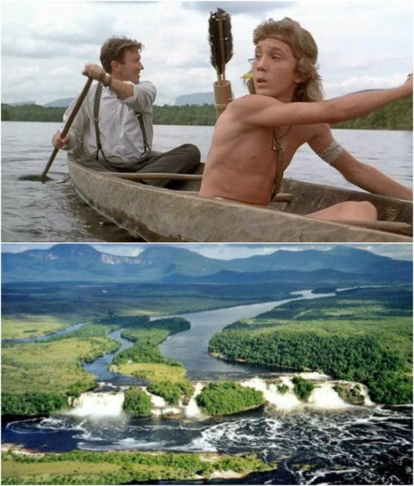 Parque Nacional Canaima como locación para la película Selva a Selva