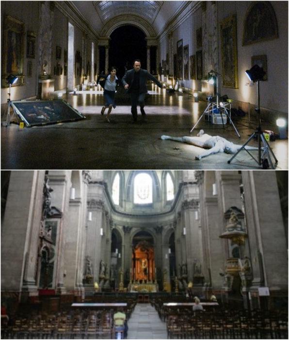 Iglesia de Saint-Sulpice como locación en la película El código DaVinci