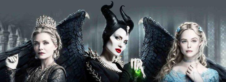 Poster de Maléfica: dueña del mal, en el que aparecen Elle Faning y Angelina Jolie