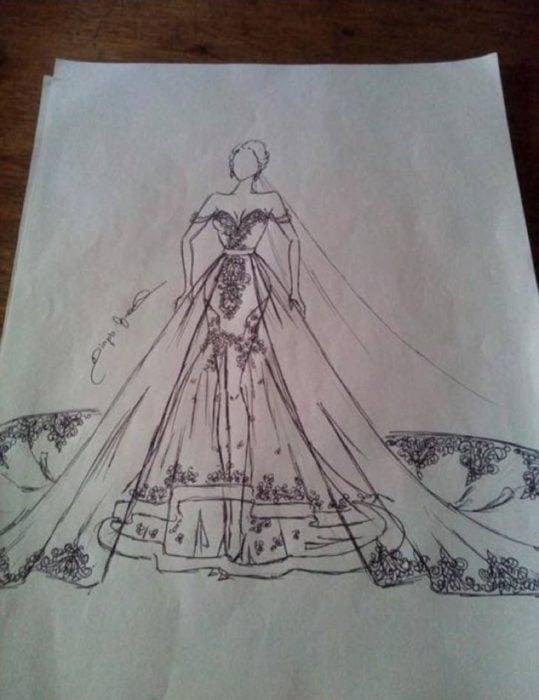 Mhayo Arguelles diseño vestido