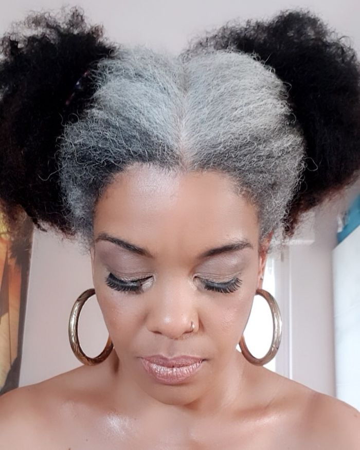 El color negro en el pelo envejece