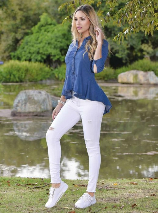 Outfit blusa azul