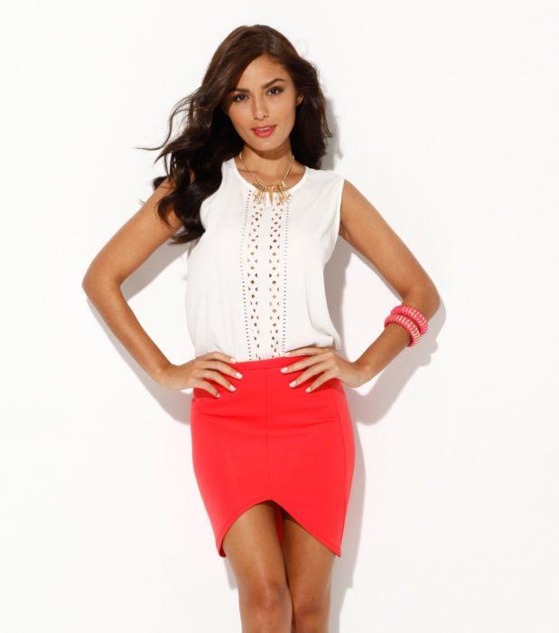 Outfit en color rojo