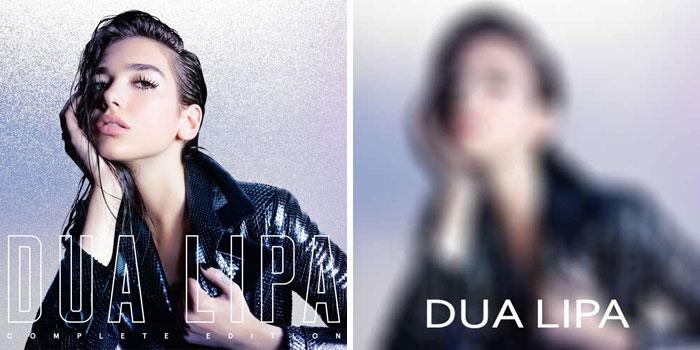 Dua Lipa, portada del disco Dua Lipa