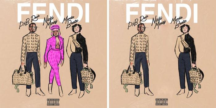 Pnb Rock, Nicki Minaj y Mudaz Beatz, portada del disco Fendi