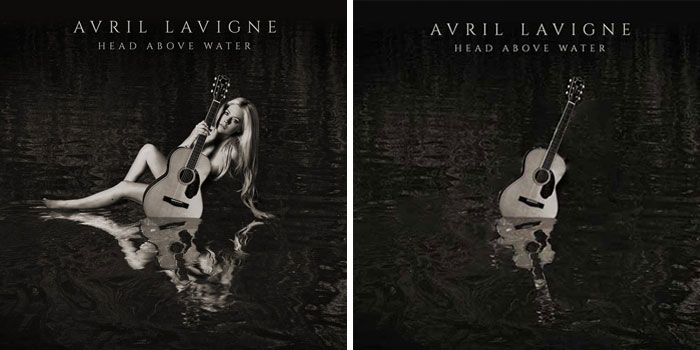 Avril Lavigne, portada del disco Head Above Water