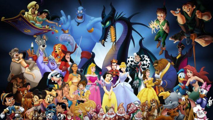 Personajes Disney reunidos en una ilustración