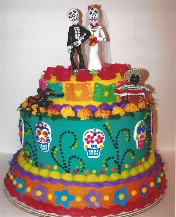 Pastel boda día de muertos