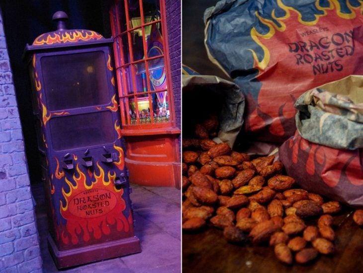 nueces tostadas que los weasleys venden en Harry Potter