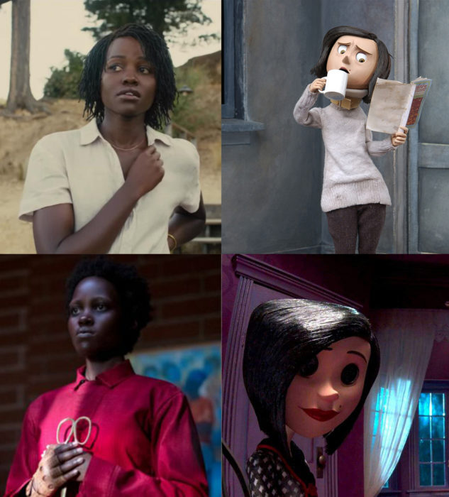 Comparación de la película Coraline vs película us