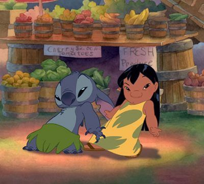 Lilo y Stitch bailando
