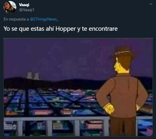 Tuit sobre la cuarta temporada de Stranger Things y el regreso de Hopper
