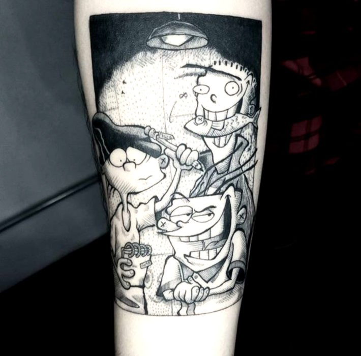 Tatuajes de caricaturas de Cartoon Network; Ed, Edd y Eddy