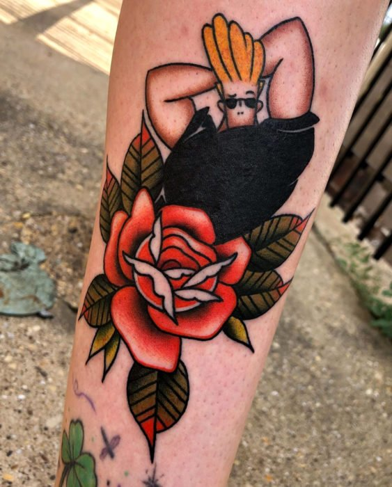 Tatuajes de caricaturas de Cartoon Network; Johnny Bravo
