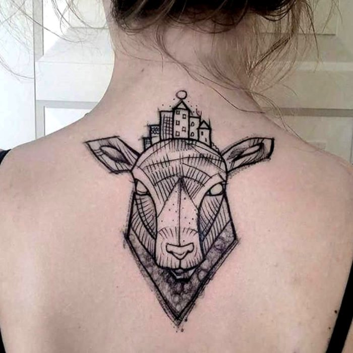 Tatuajes de caricaturas de Cartoon Network; Sheep en la gran ciudad