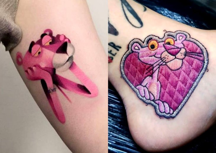 Tatuajes de caricaturas de Cartoon Network; la pantera rosa