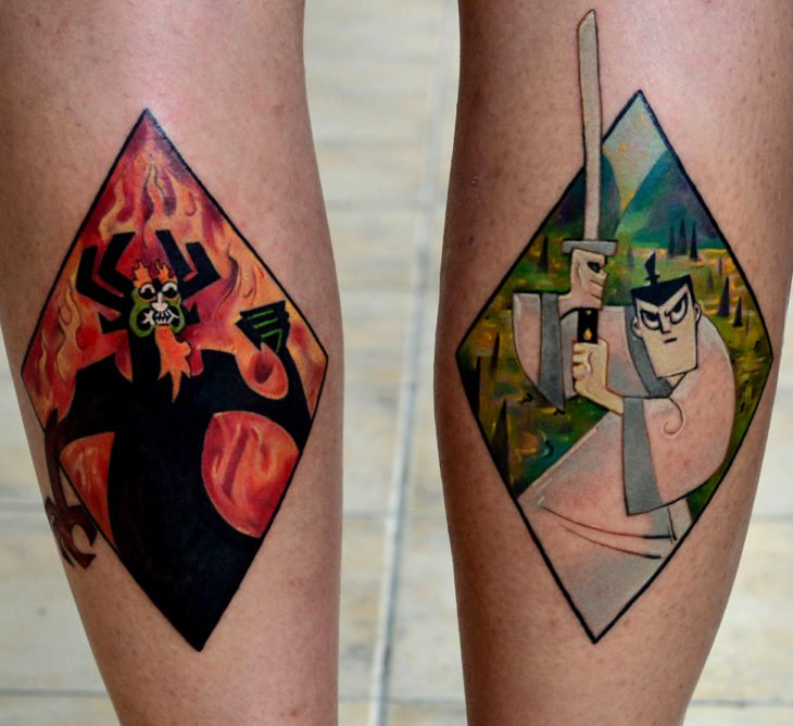 Tatuajes de caricaturas de Cartoon Network; Samurai Jack