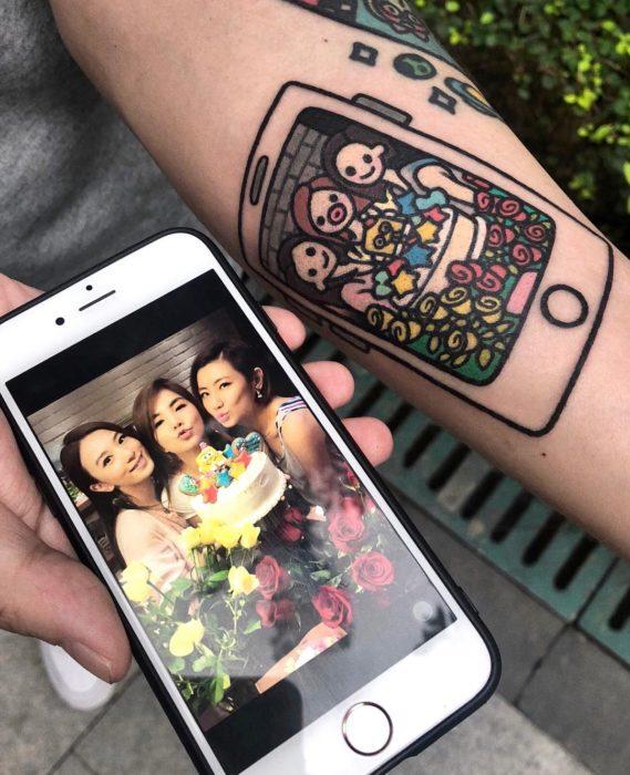 Tatuajes tiernos de Pikka Cool Cool Tattoo; tatuaje kawaii de amigas