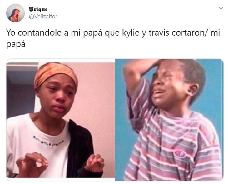 Memes de la separación de Travis y kylie Jenner