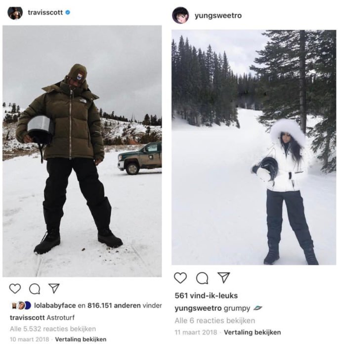 Publicación en Instagram sobre la infidelidad de Travis Scott a Kylie Jenner