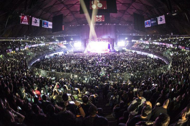 concierto de Iron Maiden en el Palacio de los Deportes