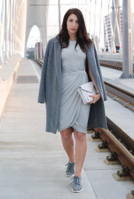 Vestido básico com casaco