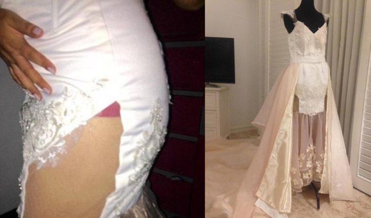 Vestido de novia mal hecho