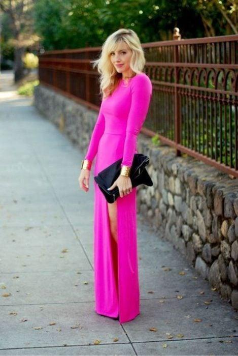 Vestido fluorescente para boda