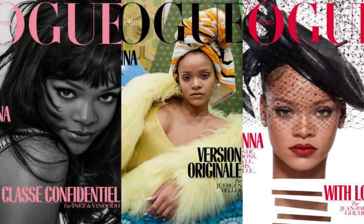 Rihanna en la portada de la revista de moda Vogue Paris de diciembre del 2017
