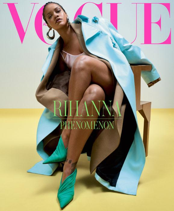 Rihanna en la portada de la revista de moda Vogue Australia, mayo del 2019