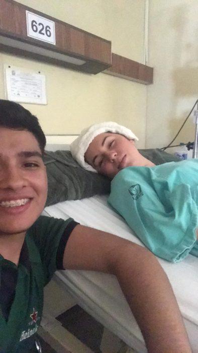 Yleana y Gustavo en tratamiento