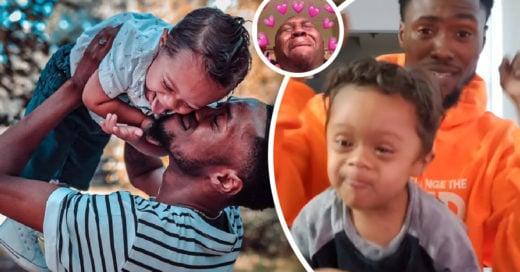 Padre e hijo bailan para celebrar que el pequeño venció la enfermedad hace 11 meses