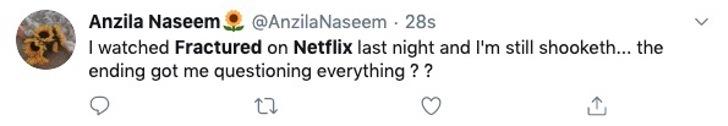 Comentarios en Twitter sobre la nueva película de Netflix Fractured