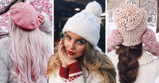14 Gorritos tejidos para sobrevivir al frío con estilo y glamour
