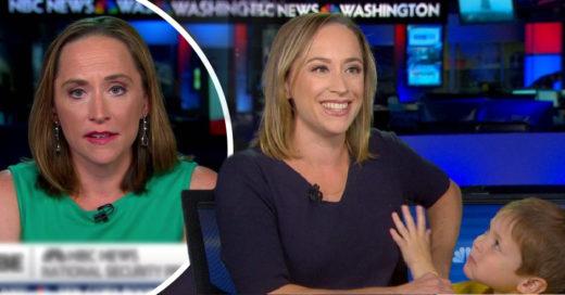 Conductora de televisión es interrumpida por su hijo mientras daba las noticias